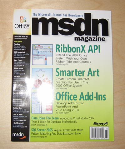 MSDN Magazine Cover