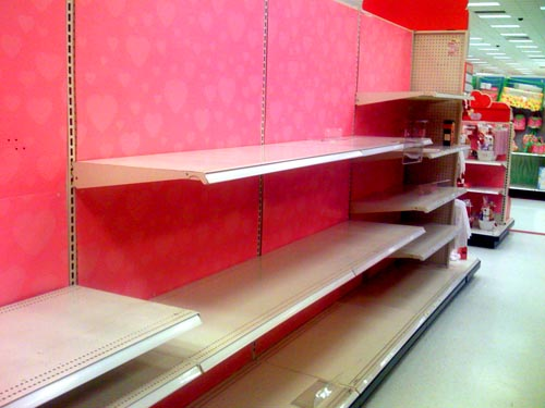 No Valentine's Day Candy at Target