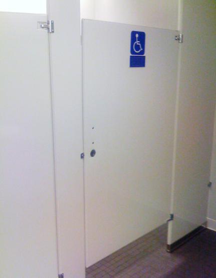 Handicap Bathroom Stall handicap restroom doors & unisex wheelchair accessible restroom
